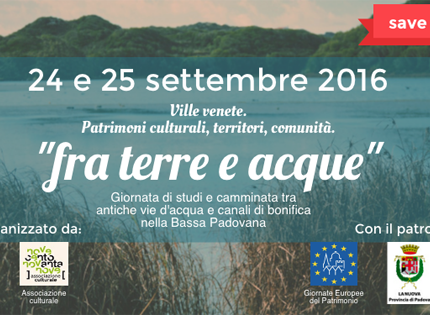 Save de date Fra terre e acque